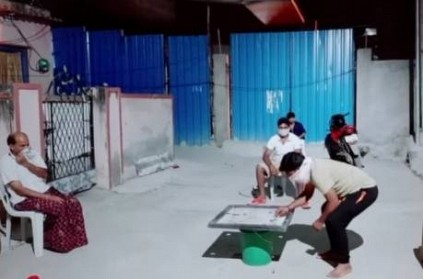 social distance in carrom board play funny video goes viral