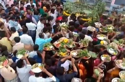 Thousands of Crowd gathered for village fair in Karnataka