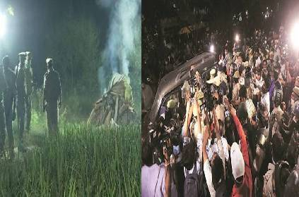 up hathras gangrape police forcibly performs last rites of victim