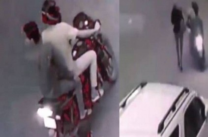 WATCH: 2 robbers snatched cell phone from woman journalist in Delhi