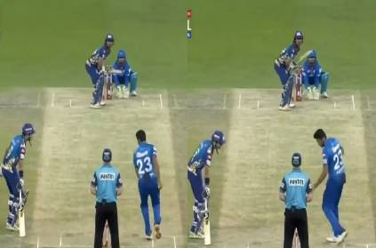 ashwin again tries to mankad and this time its krunal pandya