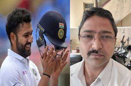 fan shaves half of his mustache after rohit sharma faces 30 balls