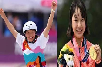 japan 13 year old girl makes olympic history gold skateboarding