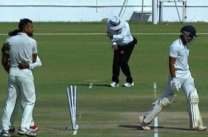 Ranji Trophy final Umpire Shamshuddin suffers injury