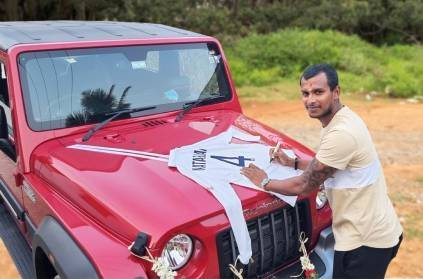 T Natarajan thanks Anand Mahindra for Thar SUV