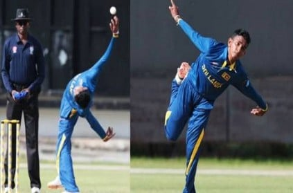Viral Video SriLanka Kevin Koththigodas Weird Bowling In T10