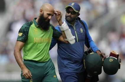 WATCH: Amla retires hurt after being hit by Jofra Archer bouncer