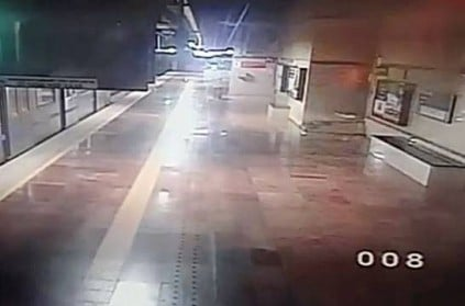 Accident in Koyambedu Metro railway station caught on CCTV camera
