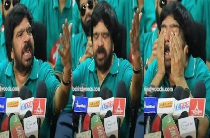 actor t rajendran emotional moment in press meet producers election