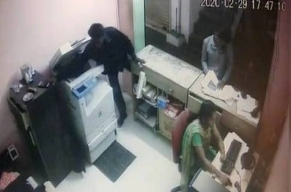 Chennai xerox shop woman cell phone theft near Chengalpattu