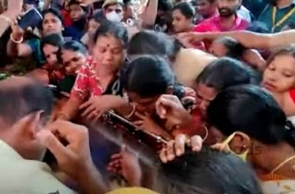 Chithra\'s body on the way to her home after postmortem