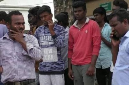 clash between engineering college students in trichy