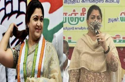 congress spokesperson kushboo joining bjp rumours cleared protest