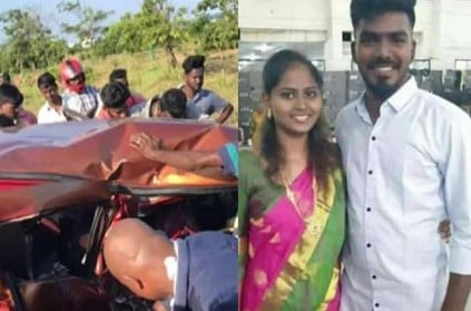 Couple died car accident in ECR road in Chennai