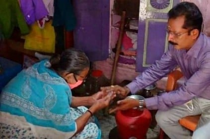 Madurai old woman meet collector to complaint about house owner