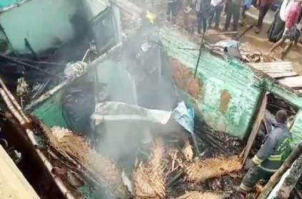Mobile charger exploded and the house caught fire in Pallavaram