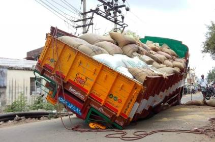 Lorry which Carried Ration Food, Fossilized inside the road
