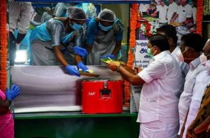 TN CM palanisamy launches 3 mobile Amma Canteens in Chennai