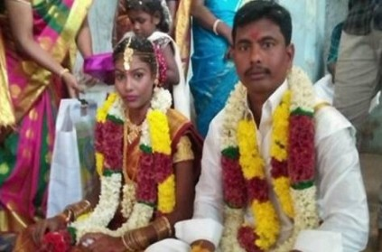wife killed her husband with stones in tharangambadi