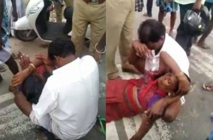 woman injured after being beaten by police in Ramanathapuram