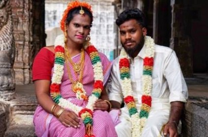Young man married a transgender in Cuddalore with parents support