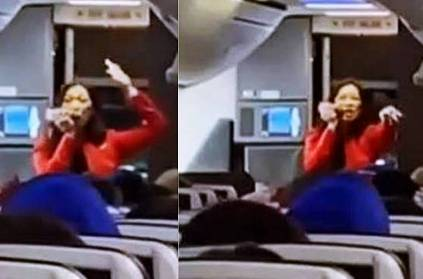 Air hostess raps safety instructions on flight video goes viral