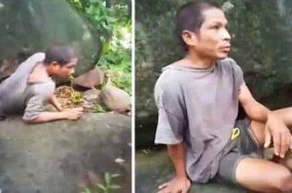 Philippines mysterious youngster aged 35 lives under rock