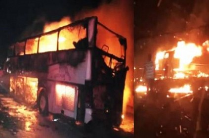 Saudi Fire Accident 35 Foreigners Dead in Bus Lorry Crash