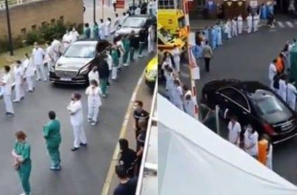 this is how hospital staffs greeted Belgium PM during his visit video