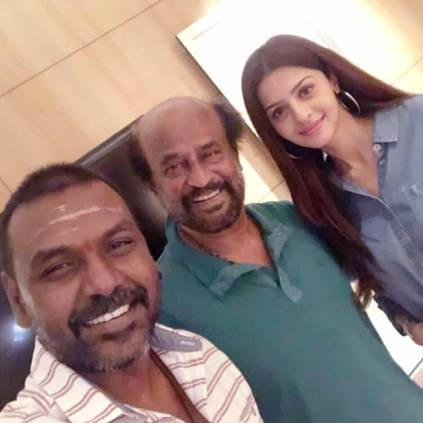 Raghava Lawrence met Rajinikanth at Darbar Shooting Spot